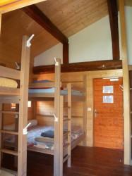 Le dortoir du Refuge de La Balme en tarentiase