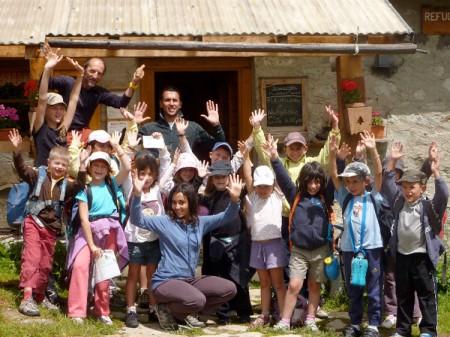 Groupe d'enfants au Refuge de La Balme