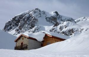 Le Refuge de La Balme en hiver